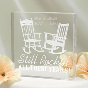 Still Rockin Anniversary Cake Topper (Personalized Option) (Hortense B Hewitt 20813) | Buy at Wedding Favors Unlimited (http://www.weddingfavorsunlimited.com/still_rockin_cake_top.html).