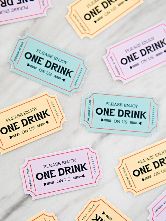 These Free Printable Wedding Drink Tickets Are So Freaking Cute Wedding Drink Tickets Free Wedding Printables Free Printable Wedding Invitations