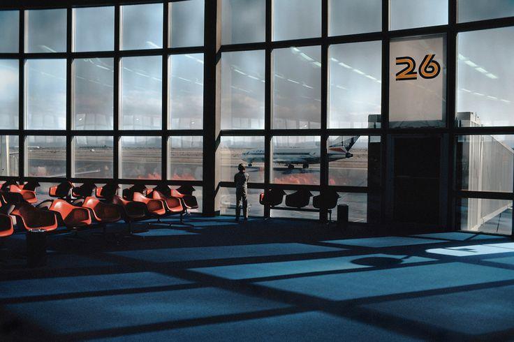 Harry Gruyaert 1982. International airport.