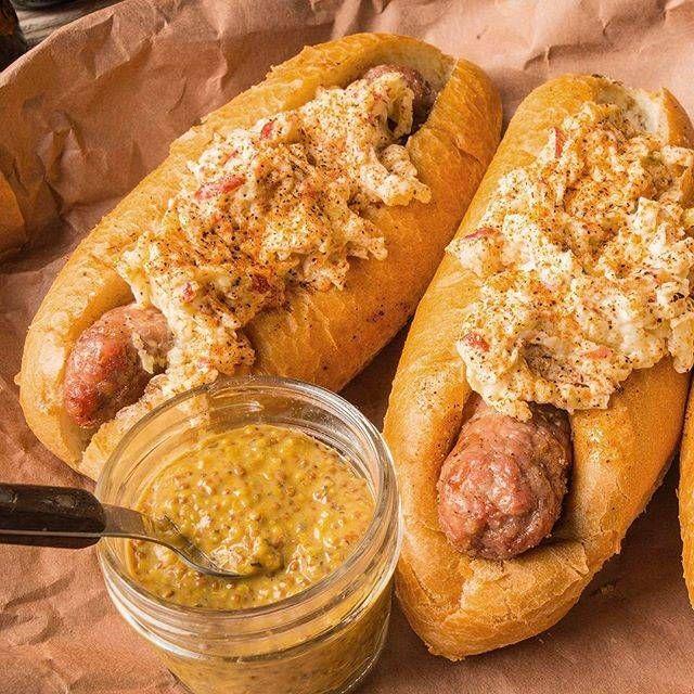 Grilled Brat & Apple Slaw Sandwich Recipe | Traeger Wood Fired Grills