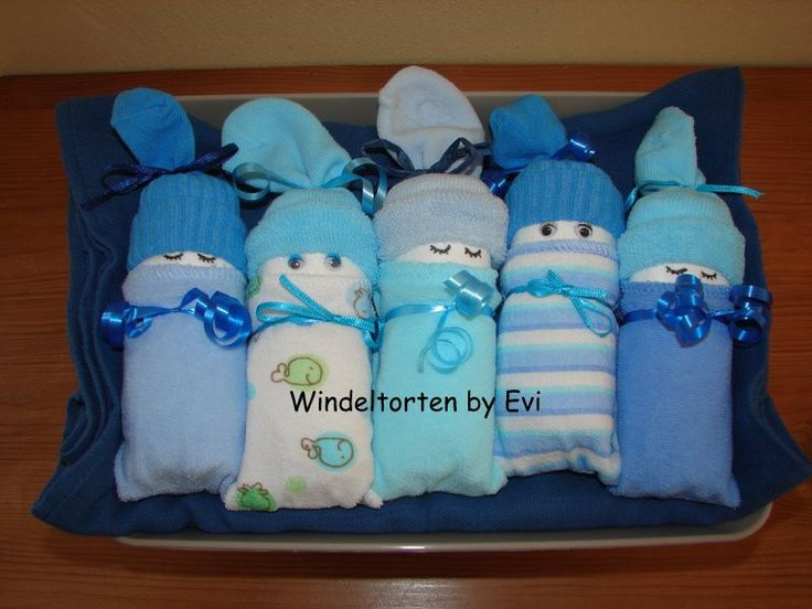 Windelbabys 'Chico', supersüsse Windeltorte! von Windeltorten By Evi auf DaWanda.com