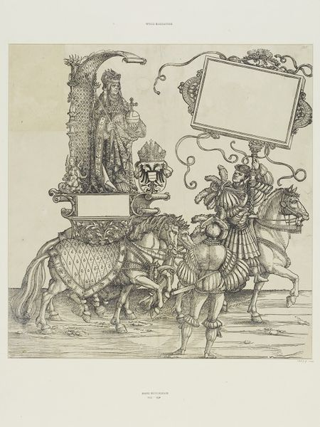 Albrecht Dürer workshop: Emperor Friedrich III.,  (A.:106) woodcut, Triumphal procession of Emperor Maximilian I., ca. 1516 - 1519, currently attributed to Hans Springinklee (?), V&A Search the Collections