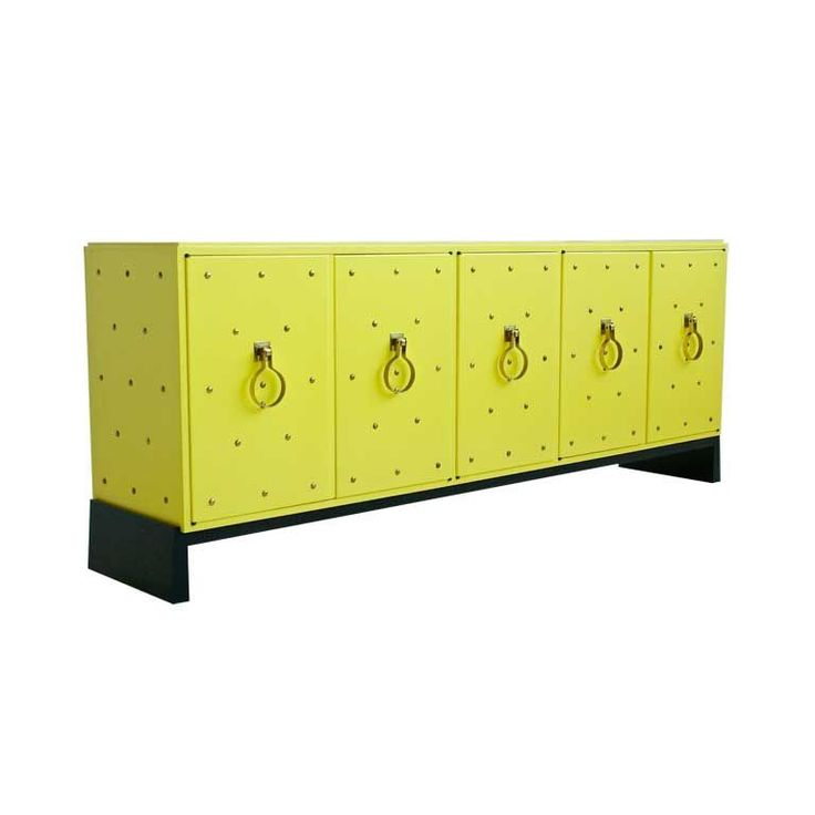 hello tommi parzinger yellow studded cabinet.. i love you.