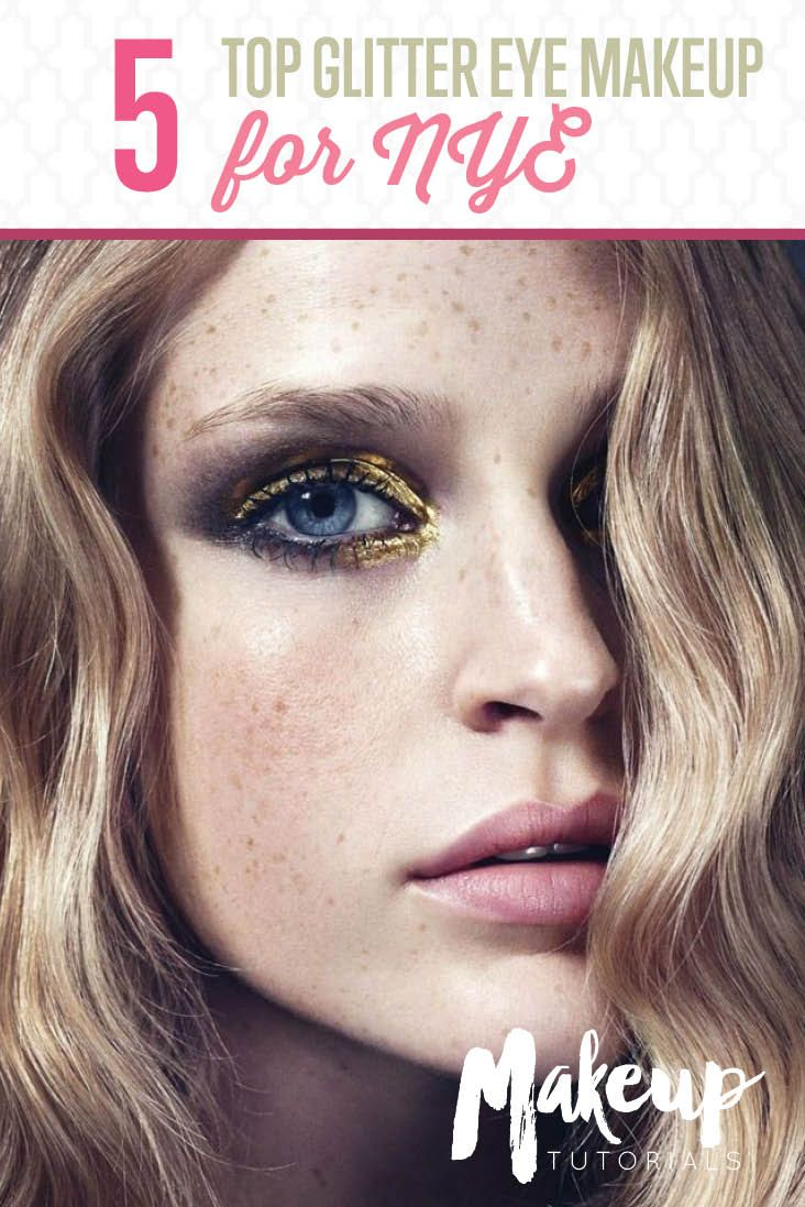 The Top 5 Glitter Eye Makeup Looks for NYE - Dramatic Eyeshadow Ideas by Makeup Tutorials at http://makeuptutorials.com/top-5-glitter-eye-makeup-looks-nye/