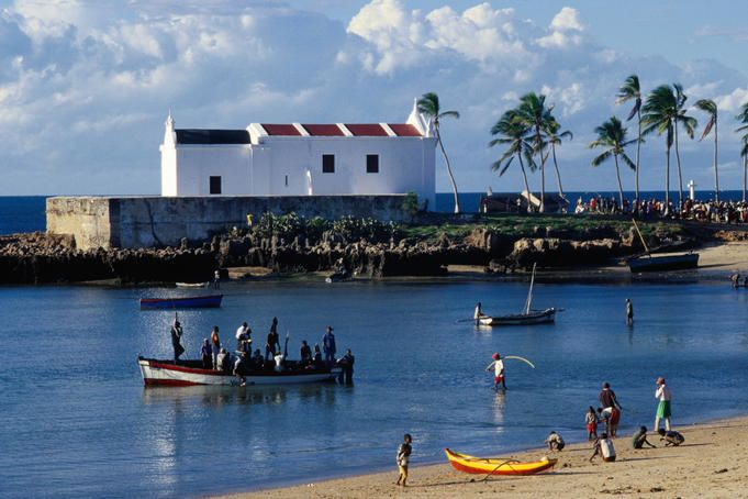 East Coast of Mozambique with Santo Antonio Church