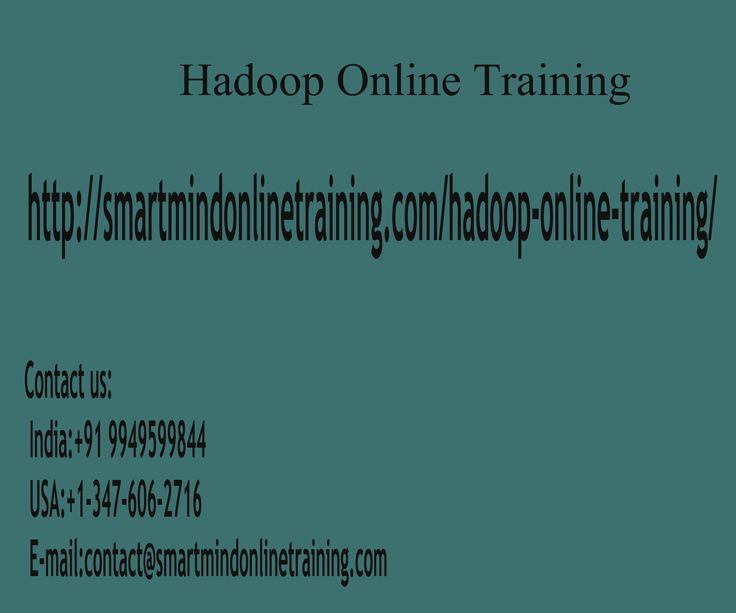 "Hadoop Online Training Classes are the most effective Hadoop supplier. Our Hadoop On-Line Training faculty is quite much dedicated and experienced. Our Hadoop online training faculty is faculty and realtime is employed by MNC's. Our Hadoop Online Training Class content created as employment oriented and according to the IT business condition Hadoop Online Training. <a href="" http://smartmindonlinetraining.com/hadoop-online-training/"">Hadoop Online Training </a>"
