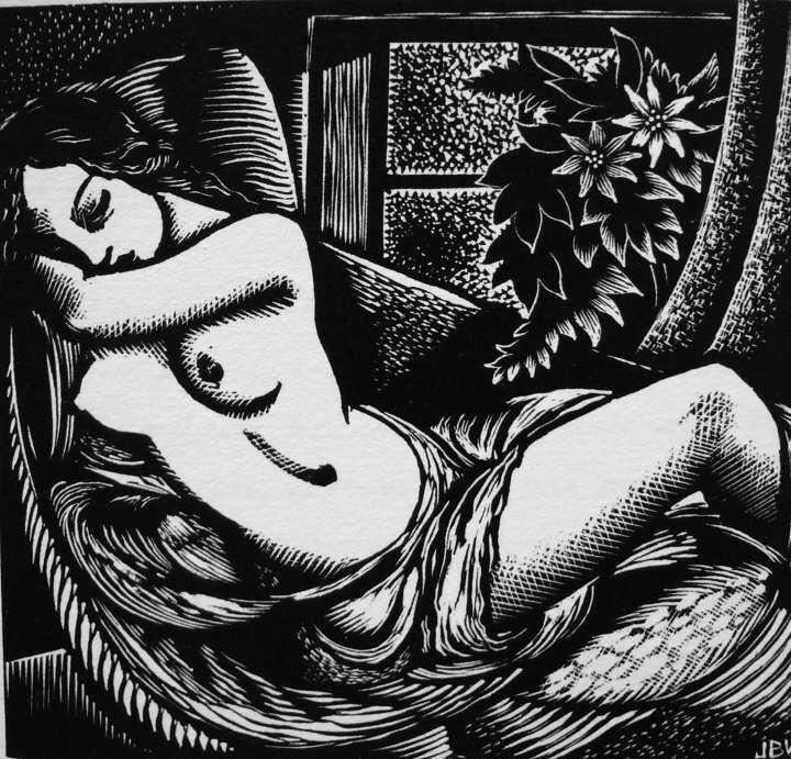 John Buckland Wright(1897ー1954)「A Golden Study」(1935)