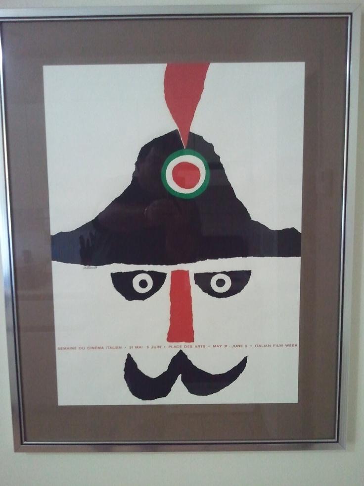 Rare 1964 Italian Film Week Poster by Vittorio Fiorucci