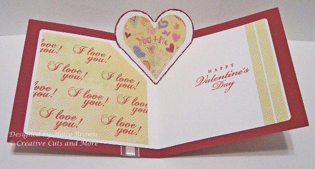 valentine card pop up