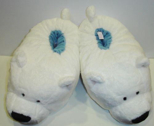 "Pantofole A Forma Di Orso Bianco "" NICI Feel Good "" TG 38 41 | eBay"