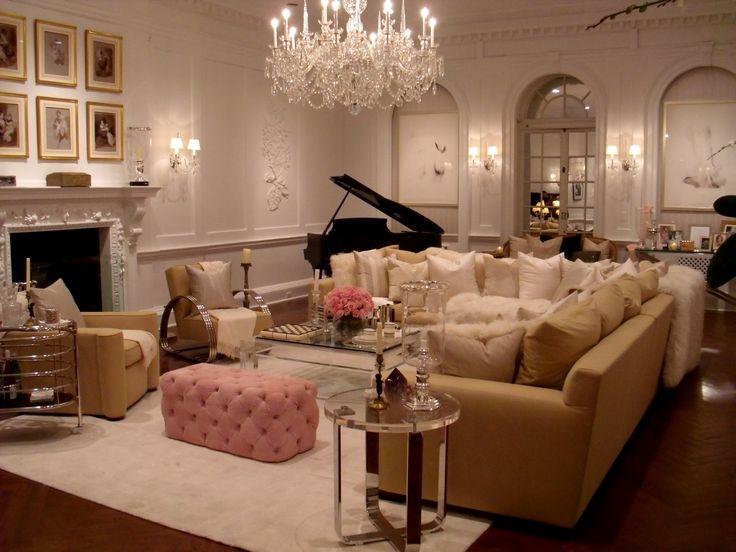 Glamorous living room home beautiful home pinterest for Glamorous living room ideas