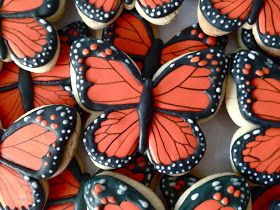 Orange butterfly cookies    By oh sugar event planning, Black