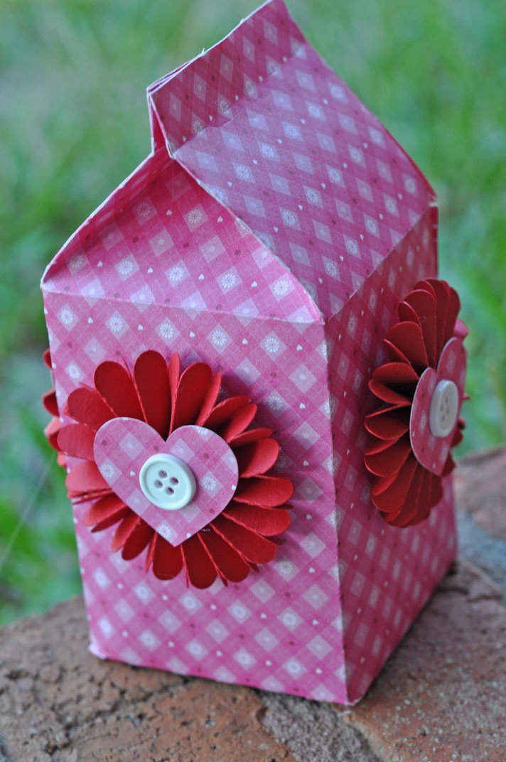 Next year's Valentines! Milk cartons filled with goodies!