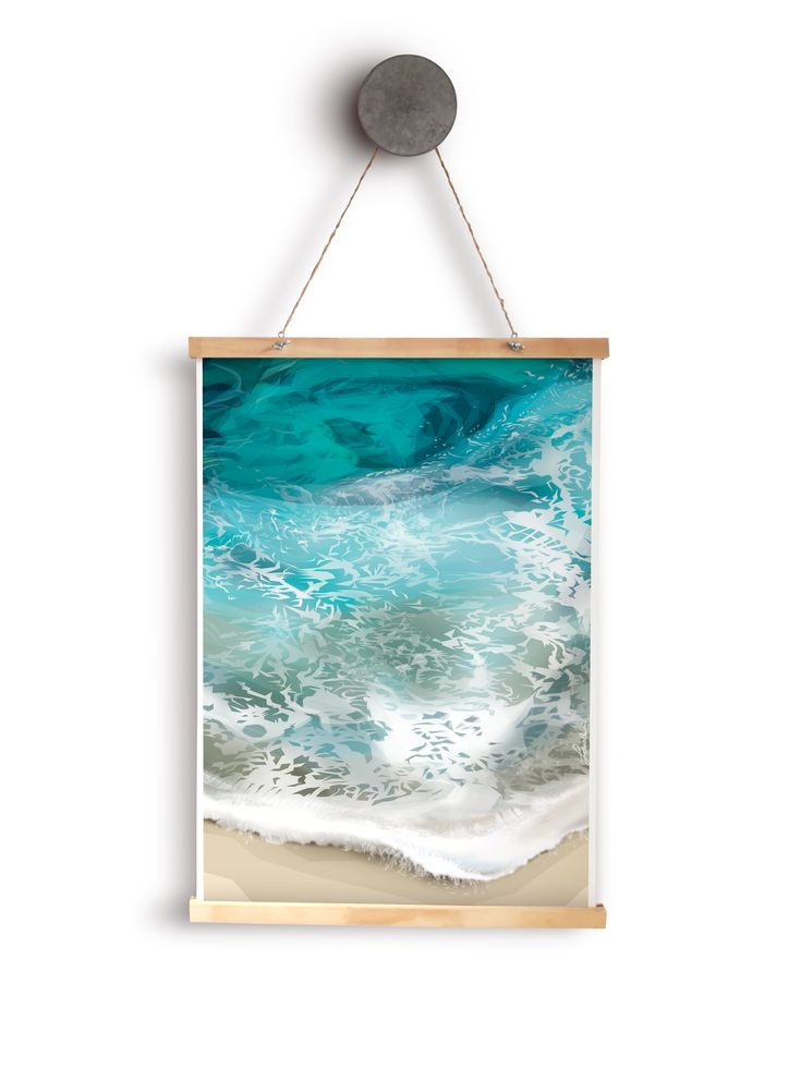 Handmadely: 'Sea' poster by Handmadely