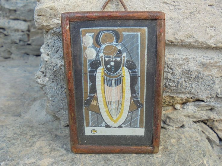 A Lovely Pair of Original Vintage Miniature Paintings of Shrinathji in Iron Frames by Lallibhai on Etsy