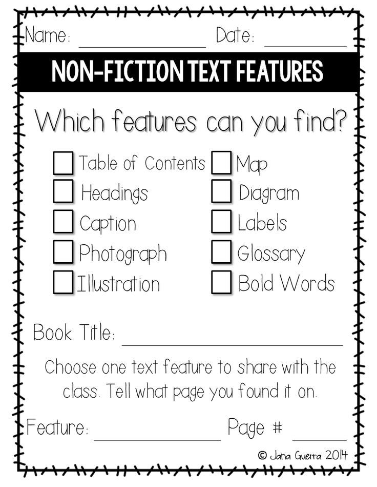 Key Ideas in Non-Fiction Texts Worksheets