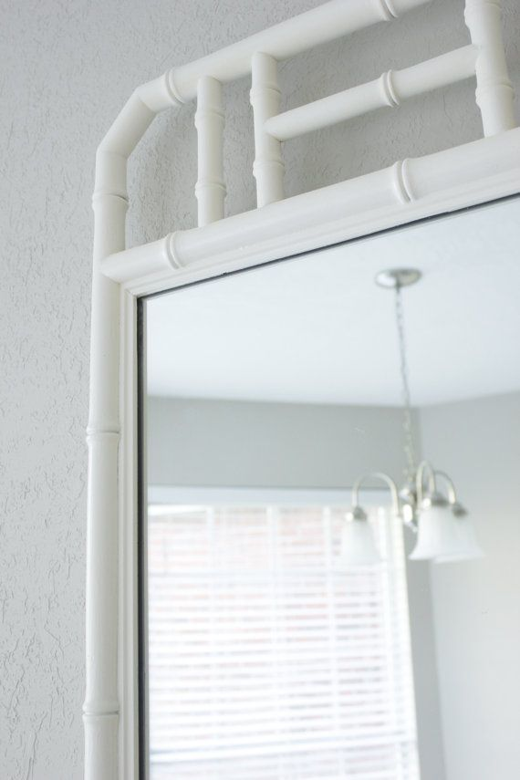 Faux Bamboo Mirror, White. SavvyVintageBoutique (https://www.etsy.com/shop/SavvyVintageBoutique?ref=l2-shop-info-avatar)