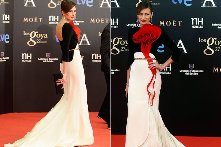 #1 Goyas 2013 Spectacular Nieves Alvarez by Stephan Rolland Heute Couture