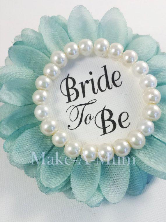 Hand-dyed TIFFANY BLUE Bridal Shower CorsageBridal shower