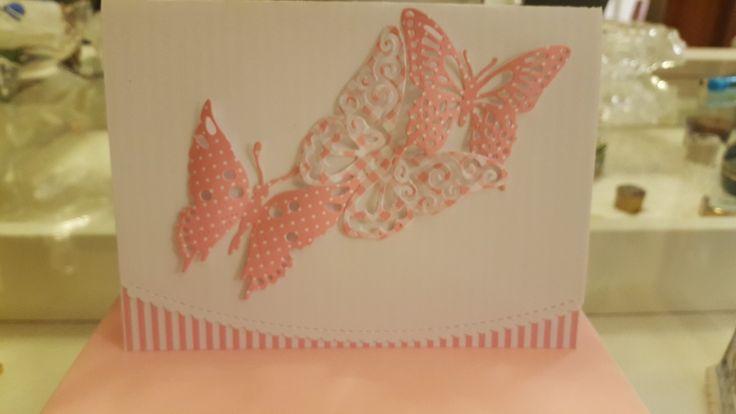 Tarjeta mariposas 4×6'