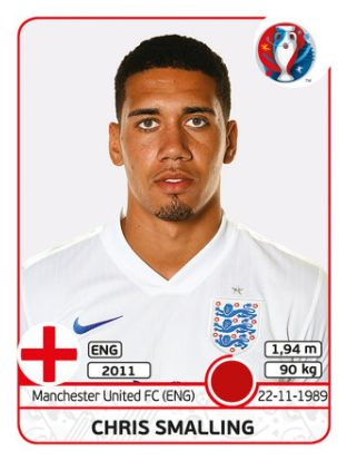 131 Chris Smalling - Inglaterra - EURO 2016