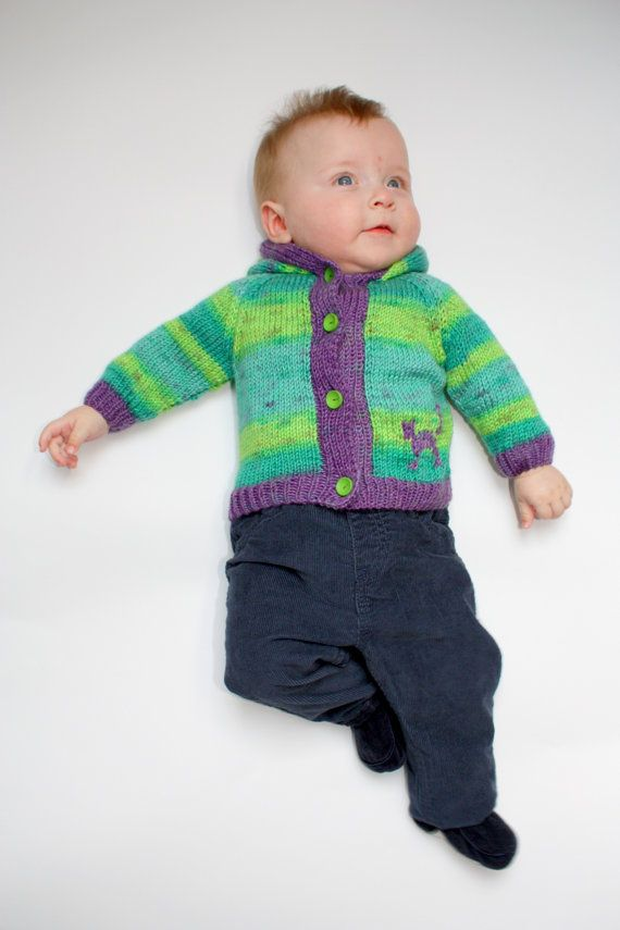 Check out this item in my Etsy shop https://www.etsy.com/uk/listing/271259422/green-and-violet-baby-cardigan-hand