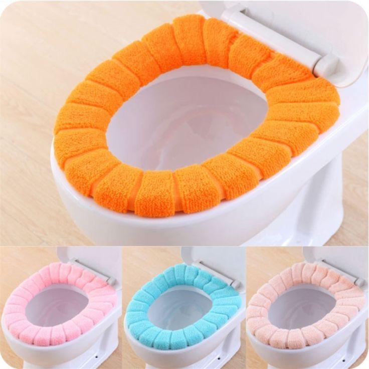 O-Shape Sedili Wc Caldo di Spessore Lavorato A Maglia Modello Zucca Cuscino del sedile del water Diametro 29 cm
