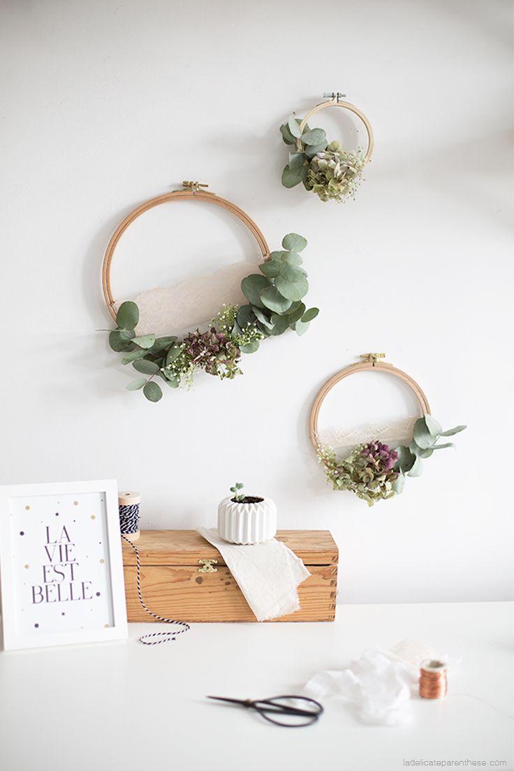 [ DIY ] Recycler des fleurs fanées pour décorer ses murs- La Délicate Parenthèse