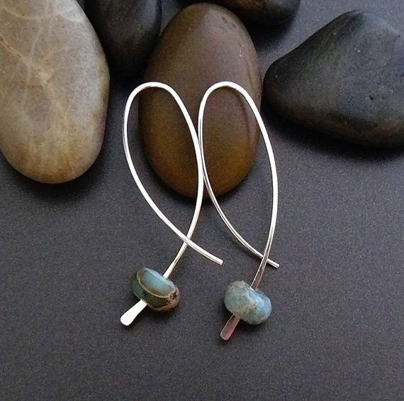 Sterling zilveren oorbellen met Jaspis van atelierblaauw op Etsy