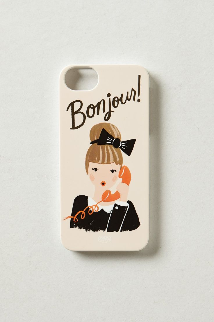 Bonjour iPhone 5 Case: Iphone 5S, Iphone Cases, Bonjour Iphone, Rifles Paper, Iphone5S, Phones Cases, Rifle Paper Co, Products, Iphone 5 Cases