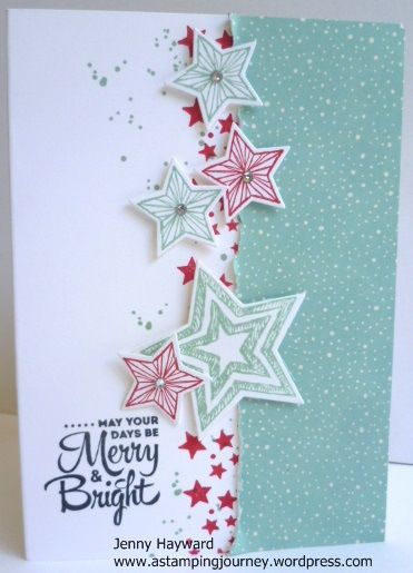 Stampin' Up! 'Be The Star' stamp set for Christmas with greeting from 'Lots of Joy'.
