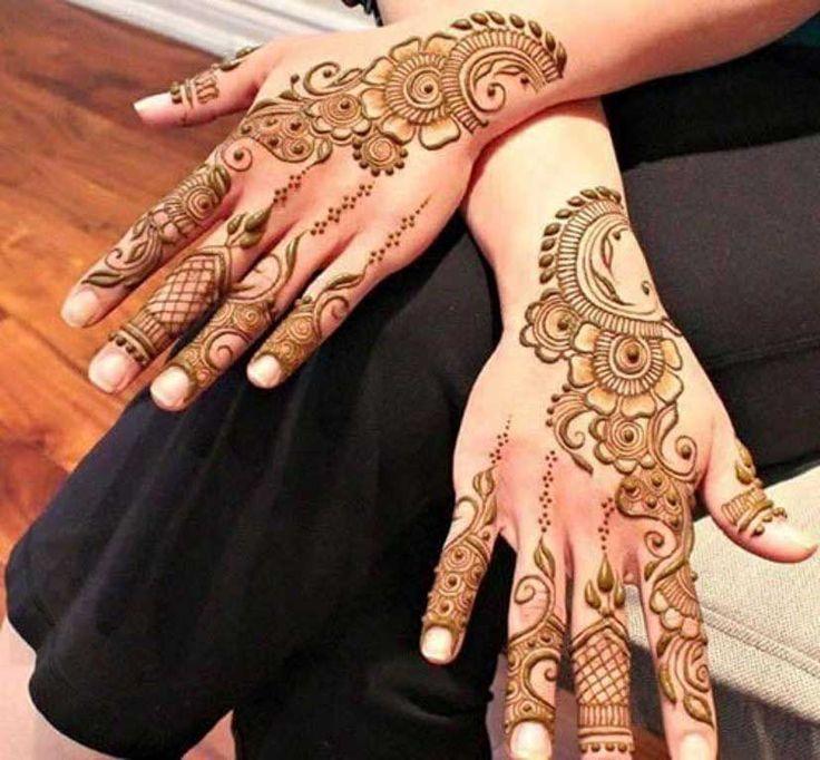 Fancy Flower Henna Mehndi Designs for Eid