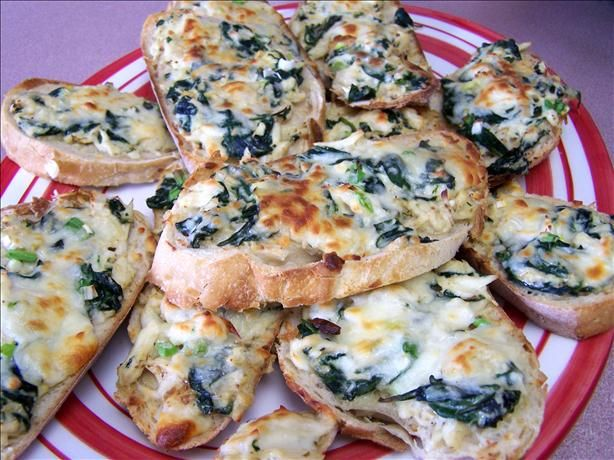 Garlic Bread Topped With Crab Meat And Spinach Recipe - Food.com - 156337