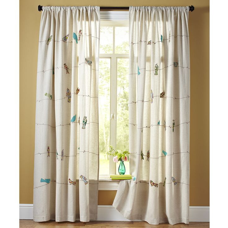 Applique Birds On A Wire Curtain | Pier 1 Imports