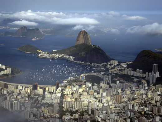 A general view of the city of Rio de Janiero and Sugarloaf Mountain at the mouth of Guanabara Bay. The city of more than 6 million people is one of the host cities for next summer's World Cup and will host the 2016 Olympics.