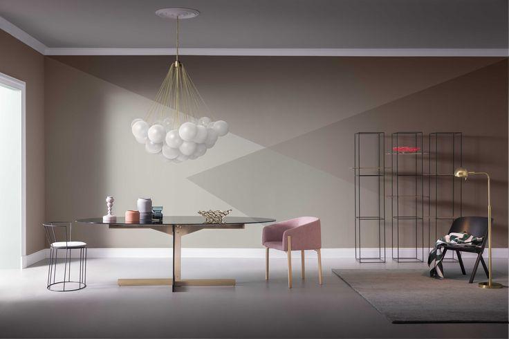 Inspiration for living room wall - Corriere della Sera Styling Studio Salaris photo by Beppe Brancato