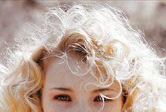 white, light blonde, green eyes, long