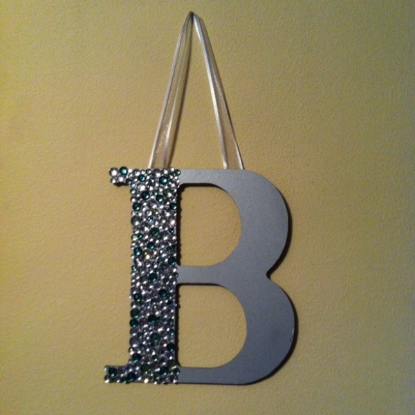 Bedazzled letters, loved it for a roommate gift. kj0522336