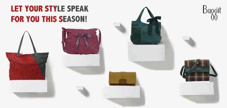 Go ahead and turn some heads with these fabulous accessories. Made of rich, cruelty-free synthetic leather these cuties will have you looking simply fabulous!  From day to night - its your time to show off your style and glam up!  Buy now at www.baggit.com