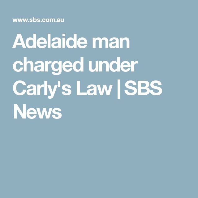 Adelaide man charged under Carly's Law | SBS News