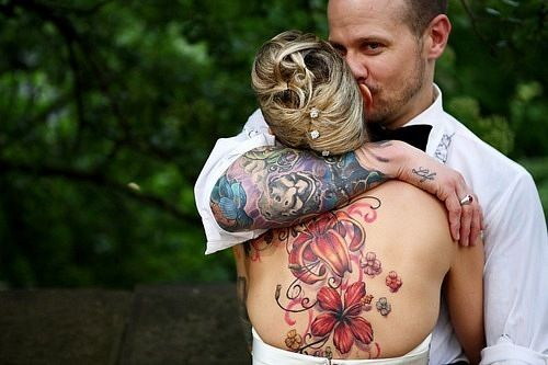 Sleeve tattoos and back flower tattoos love inked ink