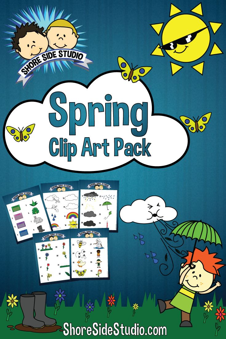 Shore Side Studio is proud to present our latest clip art pack. This clip art pack is all about Spring. https://www.teacherspayteachers.com/Product/Spring-Themed-Clip-Art-Pack-1780610