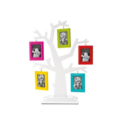 The perfect way to show off your family tree and, with 5 different coloured frames, it is sure to brighten any room.