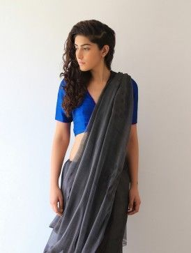 Grey Hemlata Chanderi & Zari Saree By Raw Mango …