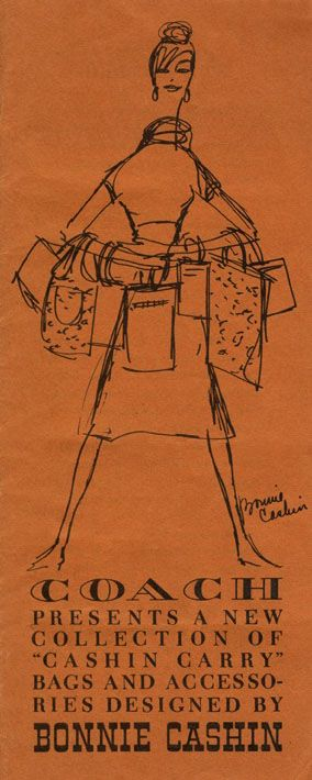 """Cover of the 1963 Spring """"Cashin Carry"""" Catalog, with illustration by first Coach creative director, Bonnie Cashin."""