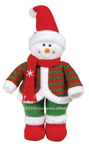 """14"""" muñeco de nieve de pie ( sombrero rojo )-Adornos navideños ..."""