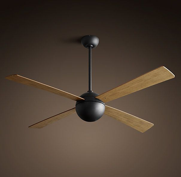 "Hemisphere Ceiling Fan 52"" - Vintage Black on sale $419"