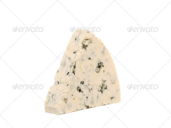 Slice of dor blue cheese. ...  background, blue, board, calories, calorific, cheese, chopping, closeup, cook, cooking, cuisine, cutting, delicious, diary, diet, eat, fat, fattening, fatty, food, france, french, gourmet, green, ingredient, isolate, isolated, kitchen, milk, product, ripe, snack, triangle, white