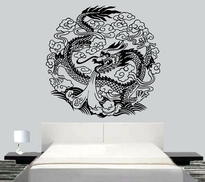 Best Wall Decor Images On Pinterest Baby Dragon Dragons And - Custom vinyl wall decals dragon