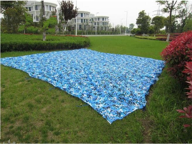 2.5M*9M filet camouflage netting gazebo netting blue camo netting for event shelter activity decoration portable car canopy